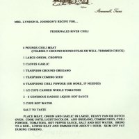 Lady Bird Johnson's Pedernales Chili Recipe | Recipes