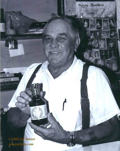 Wayne Shadden with his Sauce, 2000. Photo courtesy of Jef Jaisum.