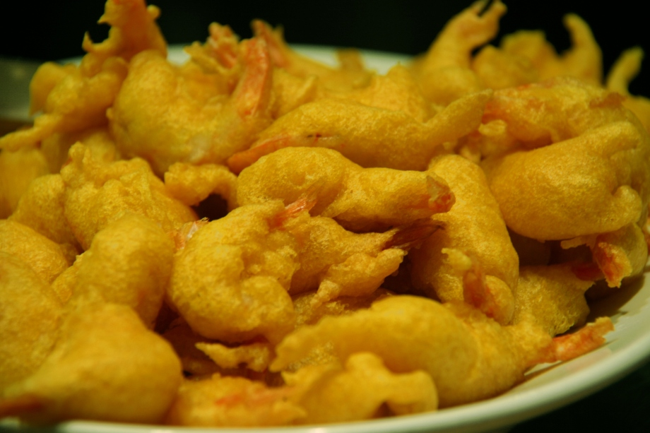 Black-Eyed Pea Battered Shrimp