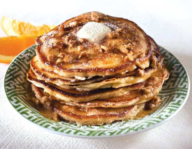 Buttermilk Pancakes with Cane Syrup and Pecan Butter