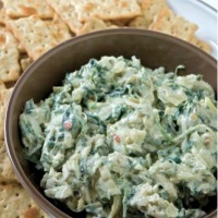 Spinach and Artichoke Dip with Crabmeat