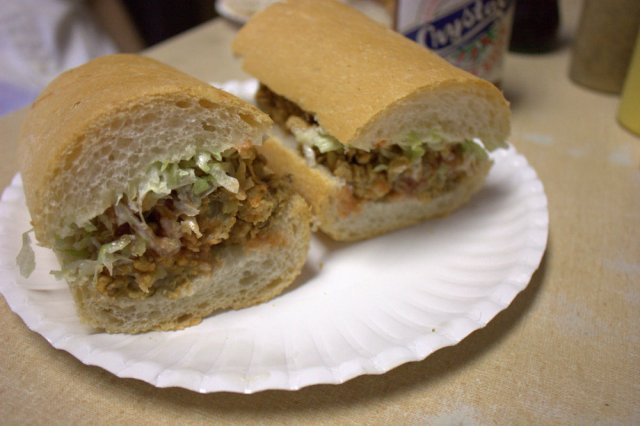 Domilise's Fried Oyster Poboy, New Orleans. By Krista, via Wikimedia Commons
