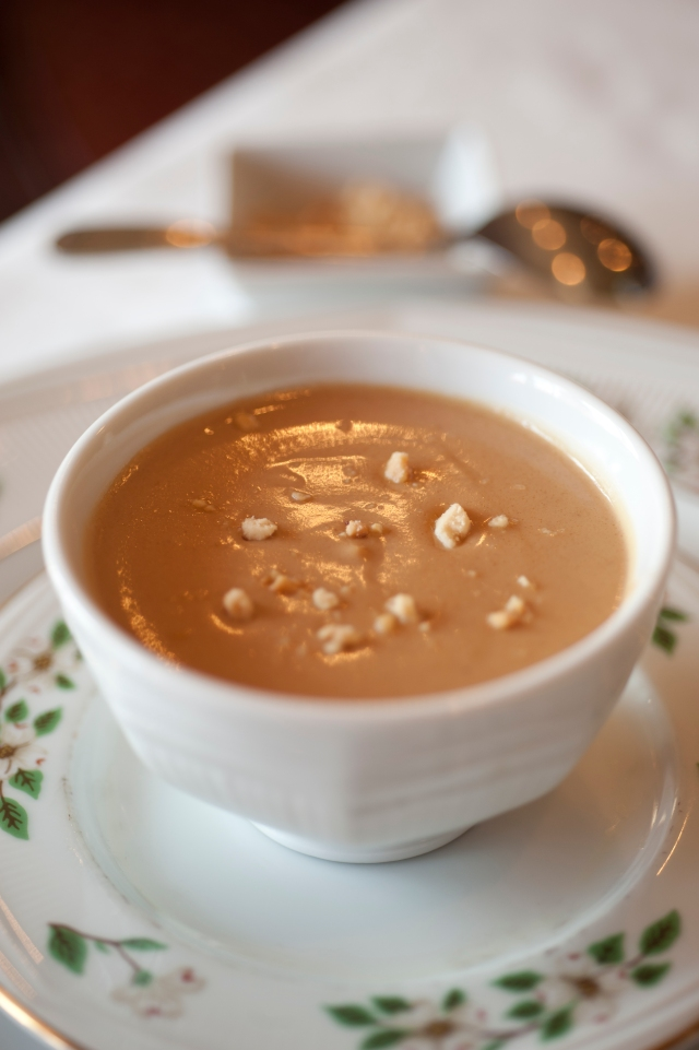 The classic Peanut Soup at the historic Hotel Roanoke in Roanoke, Va.  (David Hungate for Blue Ridge Country)