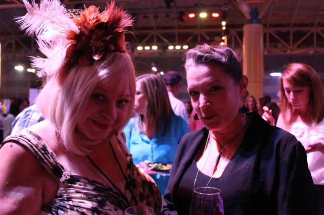 Margarita Bergen, society columnist, and Poppy Tooker, host of Louisiana Eats! at NOWFE's Grand Tasting in the New Orleans Convention Center