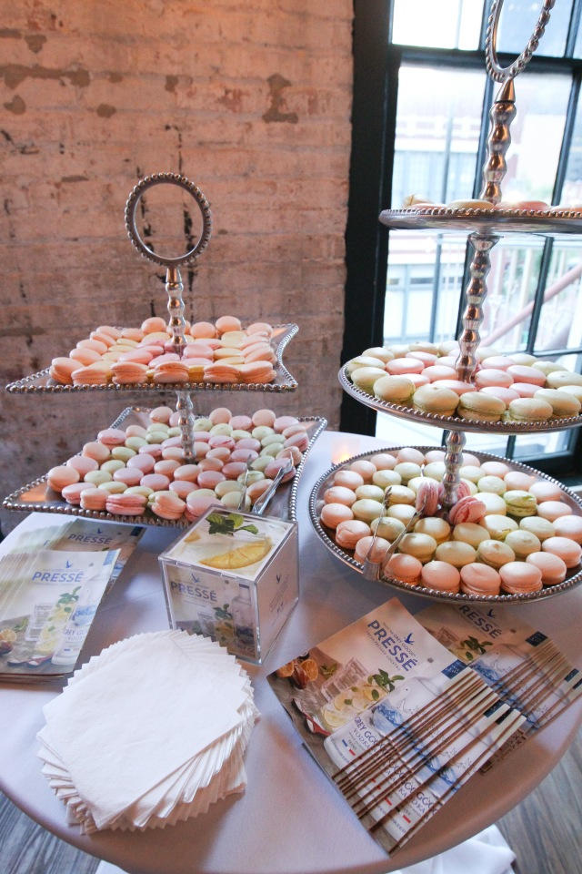 Macaroons and other pretty French treats at the TOTC Grey Goose Party