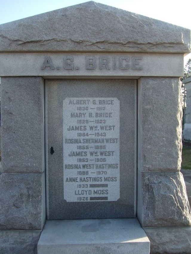 The Brice Familt tomb in Metairie Cemetary