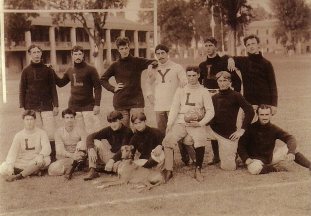The 1895 LSU Tigers Football Team. Via Wikimedia Commons.