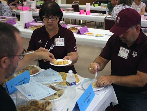 Judging kolaches at the festival. Photo by Stef Shapiro.