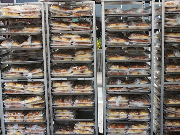 Trays of kolaches at the festival. Photo by Stef Shapiro.