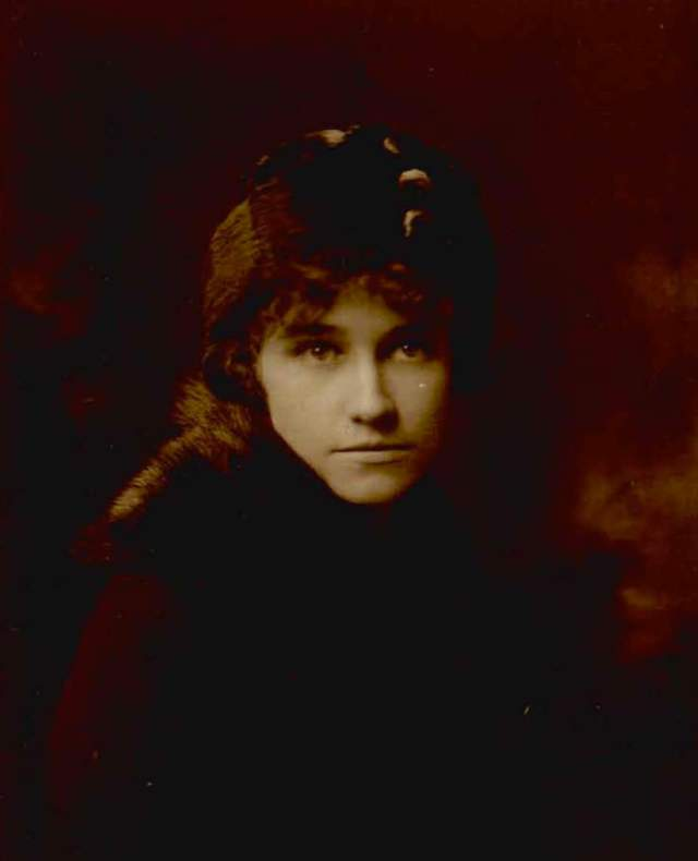 The author's grandmother (and namesake) Rosina West when she is about 19, around 1913.
