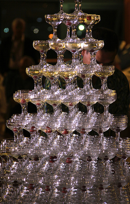 Champagne wonderfalls are pure kitsch on Princess Cruises. Photo by Allan Grey.