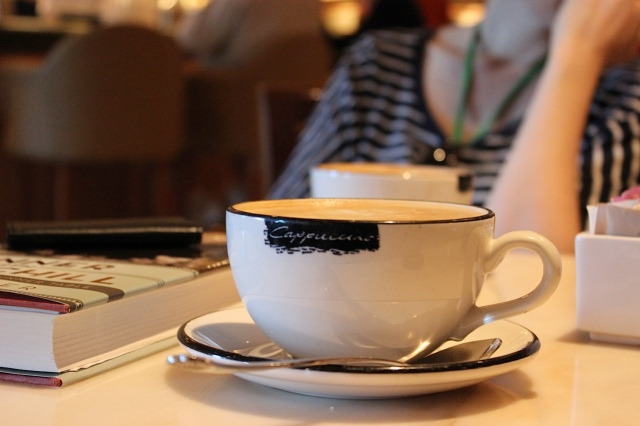 Coffee at the International Cafe is a great place to relax before a busy day.