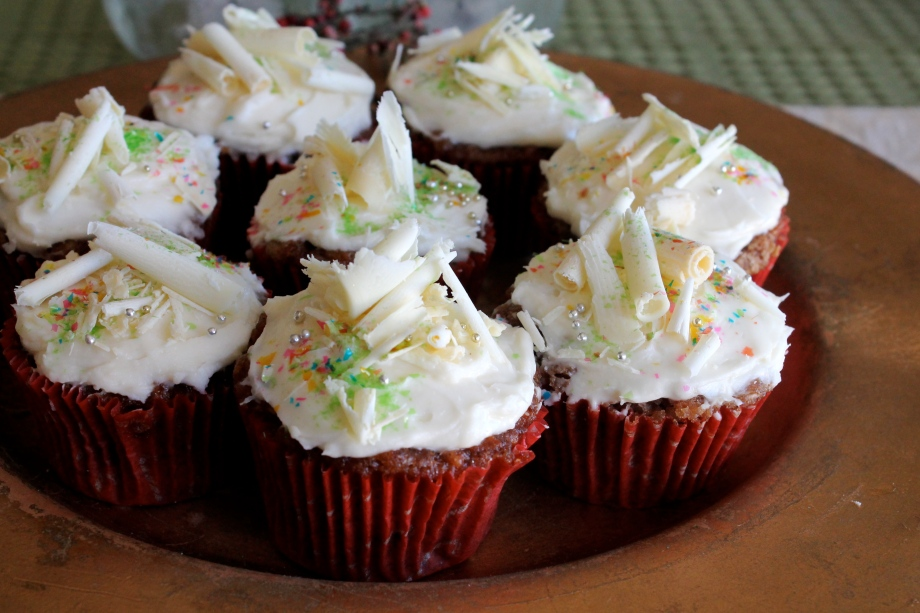 The LA to L.A. Chef: Apple Nut Cupcakes with Lemon Cream Cheese Icing