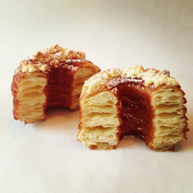 A picture of the Cronut provided by Dominique Ansel Bakery for public use and distribution.