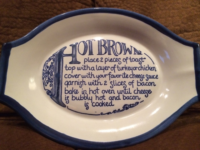 This Kentucky Hot Brown dish was made by Louisville Stoneware. Photo by Fed Sauceman