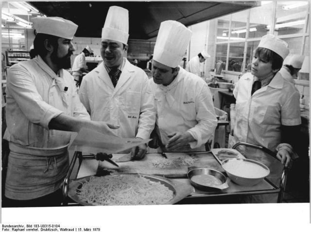 Leipzig, sowjetische Köche des Interhotels