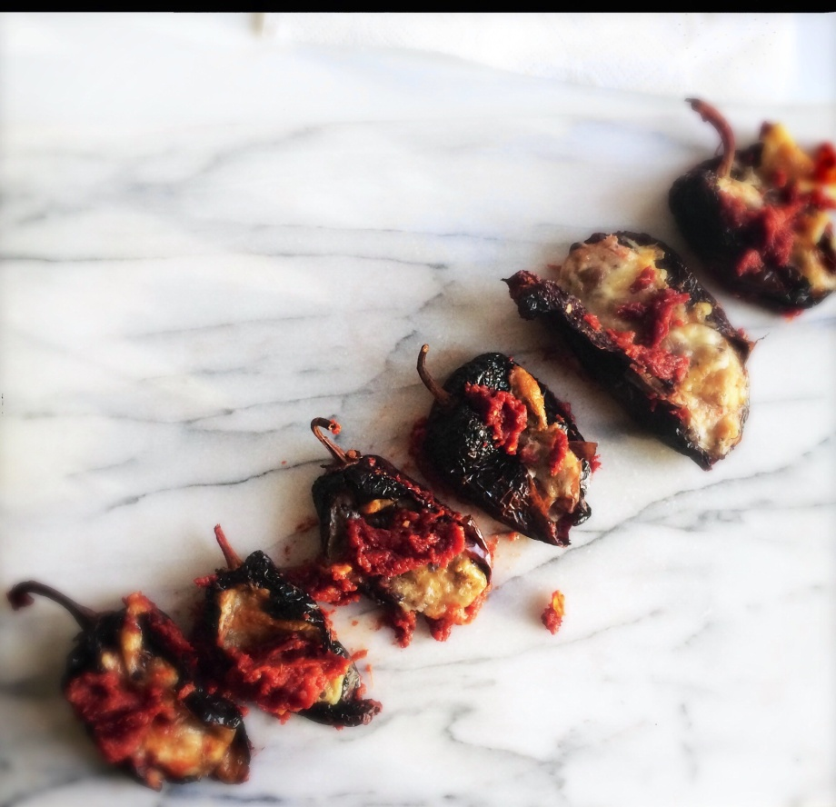 Black Bean Stuffed Ancho Chili Peppers | Tawnya Manion